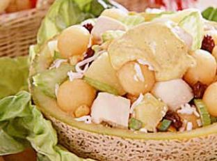 Curried Chicken Cantaloupe Salad