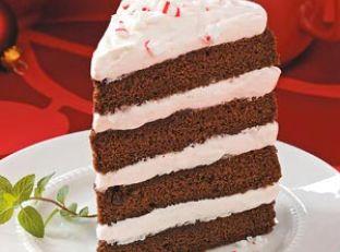 Fudgy Peppermint Stick Torte