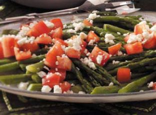 Roasted Asparagus with Feta Image