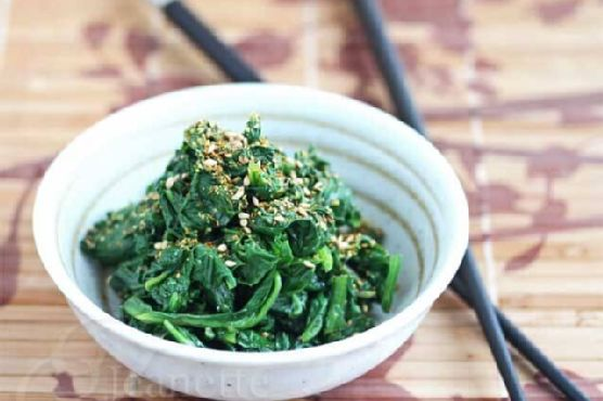 Asian Sesame Spinach Salad (Power Foods)