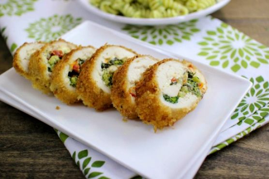 Chicken Spinoccoli – Breaded Stuffed Chicken Breast With Spinach, Broccoli and Cheese