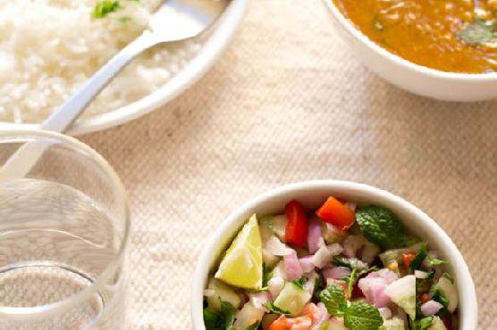 kachumber salad or kuchumber salad – indian vegetable salad