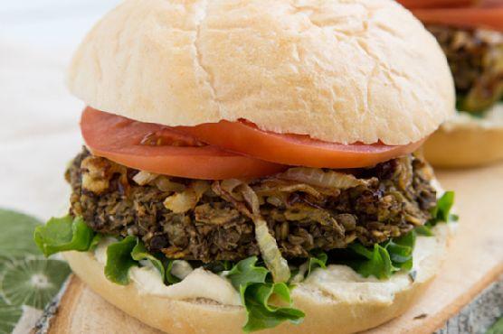 Lentil Mushroom Burgers