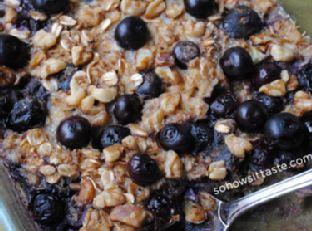 Blueberry & Raspberry Baked Oatmeal