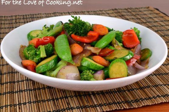 Soy-Sesame Vegetable Sauté