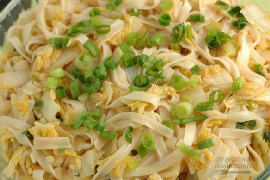 Spicy Napa Cabbage Noodles