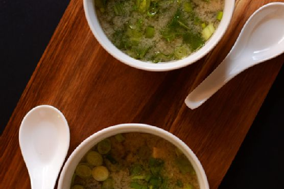 15-Minute Miso Soup with Greens and Tofu
