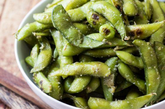 Garlic & Ginger Edamame Beans