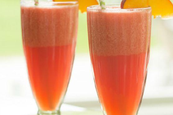 Watermelon-Peach Slushies