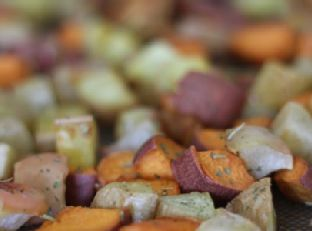 Rosemary Roasted Apples and Sweet Potatoes Image
