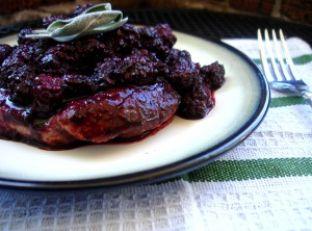 Blackberry Glazed Grilled Pork Chops