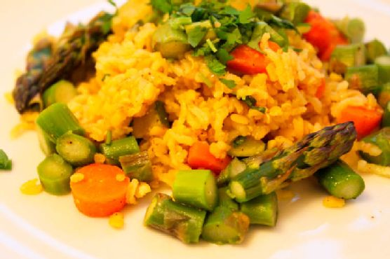 """Indian Spiced Faux-Fried Rice, or """"Khichdi"""""""