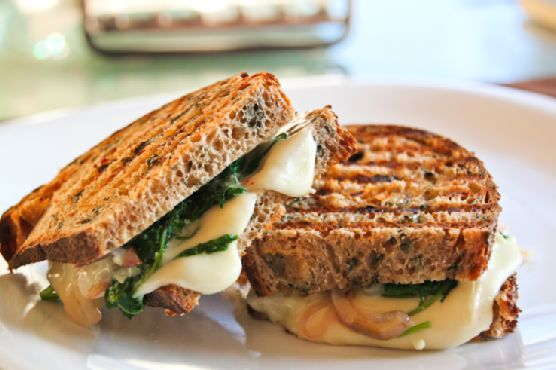 Kale and Caramelized Onion Veggie Panini