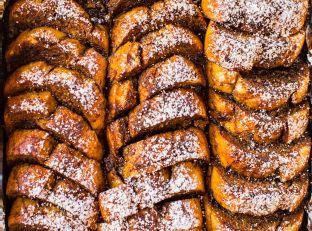 Overnight Gingerbread French Toast Breakfast Bake