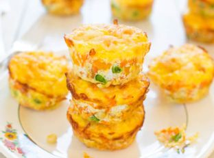 100-Calorie Cheese, Vegetable and Egg Muffins (gluten-free) 100-Calorie Cheese, Vegetable and Egg Muffins (gluten-free)