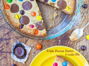 Triple Peanut Butter Cookie Pie