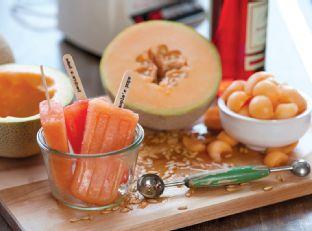 Cantaloupe & Campari Ice Pops Recipe Image