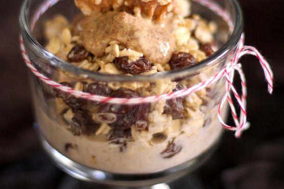 Oatmeal Raisin Cookie Overnight Dessert Oats