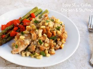 Easy Crock Pot Chicken and Stuffing Image