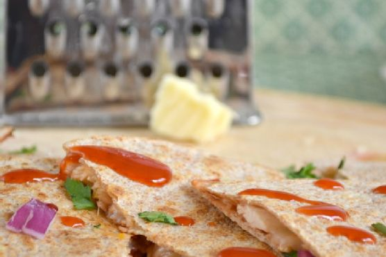 Cheesy BBQ Chicken Quesadillas