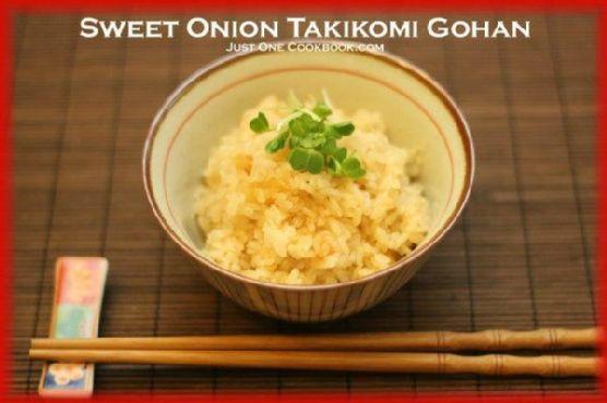 Sweet Onion Takikomi Gohan