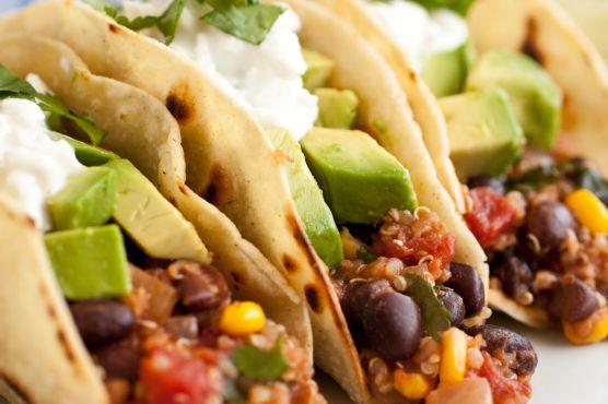 Quinoa, Black Bean and Corn Tacos
