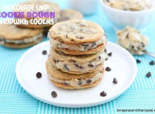 Chocolate Chip Cookie Dough Sandwiches