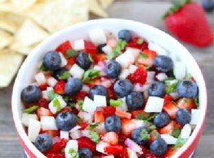 Blueberry, Strawberry & Jicama Salsa