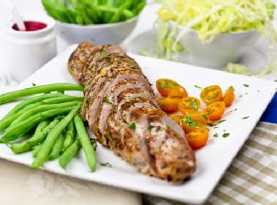Pan Seared Orange & Rosemary Pork Tenderloin