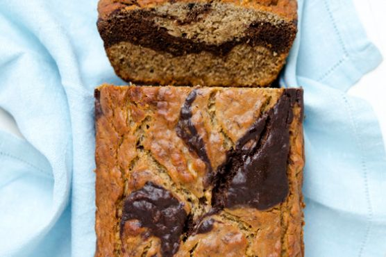 Gluten-free marbled banana bread