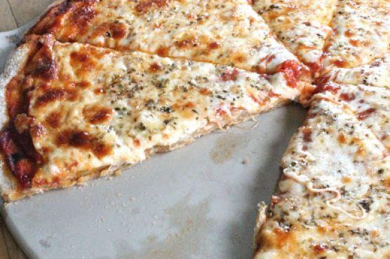 Whole grain plain pizza