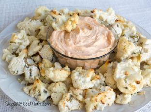 Oven Fried Ranch Cauliflower Bites with Dean's Buffalo Ranch Dip Image