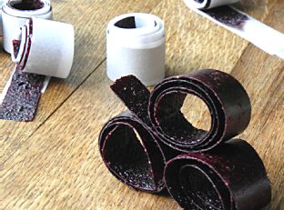 Homemade Naturally Sweetened Blueberry Fruit Roll-Ups Image