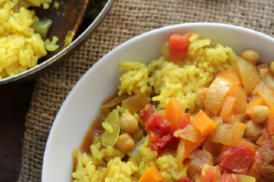 Curried Chickpea Stew with Rice Pilaf #Redux