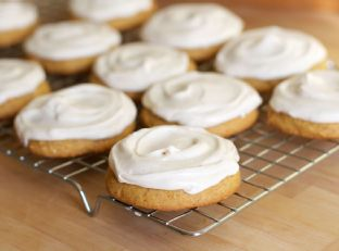 Soft Frosted Pumpkin Spice Cookies