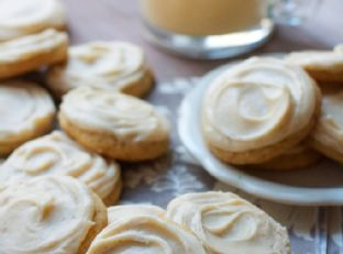 Soft Frosted Egg Nog Cookies