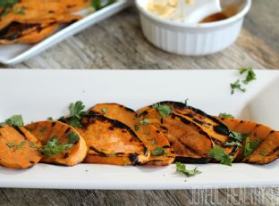 Grilled Sweet Potatoes with Chipotle Honey Lime Butter Image