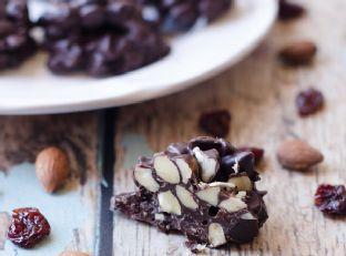 Dark Chocolate Cherry Almond Clusters Image