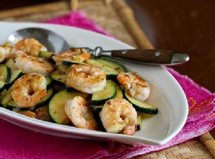Shrimp & Zucchini Stir-Fry with Miso Lime Sauce