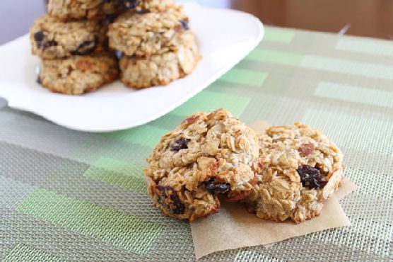 Almond cherry coconut breakfast cookies