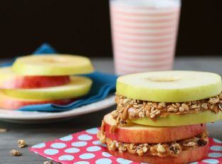 Apple Sandwiches with Almond Butter and Granola Image