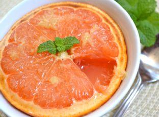 honey ginger broiled grapefruit Image