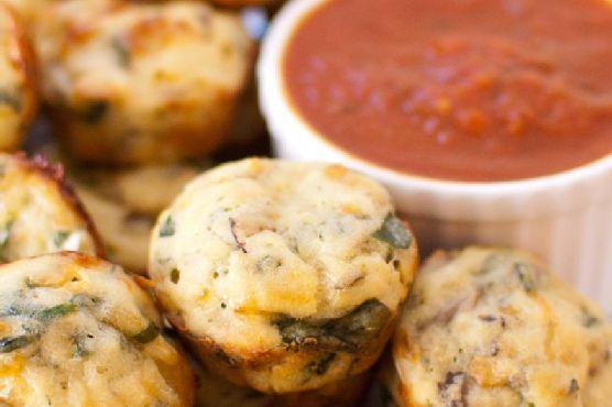 Spinach Mushroom Pizza Bites