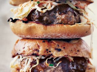 Barbecue Pork Burgers