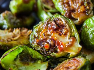 Roasted Brussels Sprouts with Sweet Chili Sauce Image
