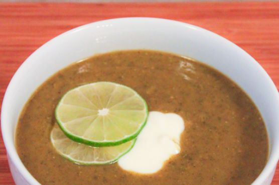 Spicy Indian Lentil Soup with Swiss Chard