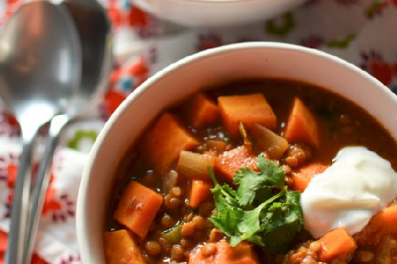 Sweet Potato Lentil Chili