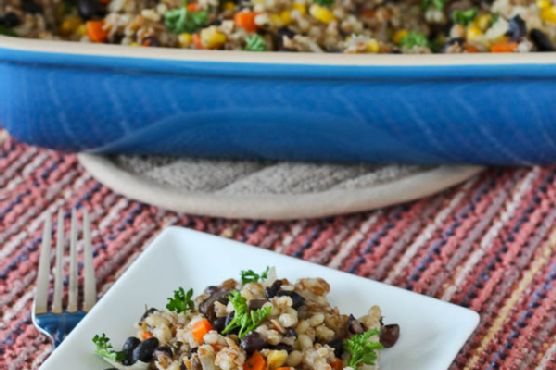 Barley, Bulgur and Vegetable Vegan Casserole