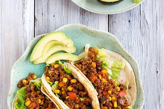 Pinquito Bean and Quinoa Taco Filling
