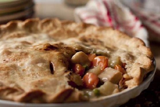 4 Ingredient Chicken Pot Pie